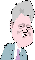 Clinton caricature